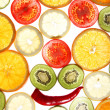 Background with vegetables and fruit — Stock Photo