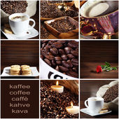 Collage with coffee — Stock Photo
