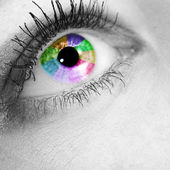 Pupil of the eye color in the gray tone — Stock Photo