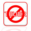 """Crossed out the word """"Teuer"""" — Stock Photo #28503991"""