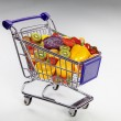 Fruit in a shopping basket — Stock Photo