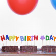 Birthday table — Stockfoto
