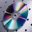 Stock Photo: CD on metal background