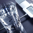Stock Photo: Diet weight scales