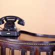 Retro black old telephone — Stock Photo