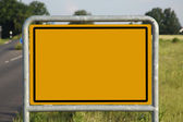 Sign by the road — Stock Photo