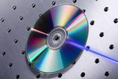 CD on metal background — Stock Photo