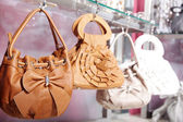Handbags in the store — Stock Photo