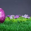 Easter eggs in the meadow — Stock Photo