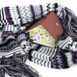 House model in scarf — Stock Photo