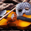 Fiddle with mask — Stock Photo