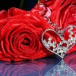 Rose with jewel — Stock Photo