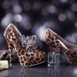 Shoes and handbag with spirits — Stock Photo #28513187