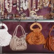 handbag with jewelry in the store — Stock Photo