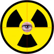 Nuclear sign with eye — Stock Photo #28513717