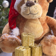 Christmas bear — Stock Photo
