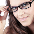 Girl in glasses — Stock Photo #28518425