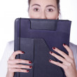 Woman doctor with a folder — Stock Photo