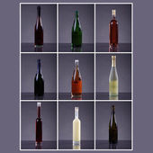 Bottles of alcoholic drinks — Stock Photo