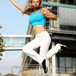 Sport girl jumping — Stock Photo