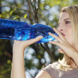 Girl drinks water — Stock Photo #28522601