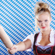 Young woman with rolling pin — Stock Photo