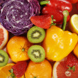 Different fruits and vegetables — Stock Photo