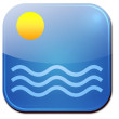 The sun and the sea - icon — Stock Photo