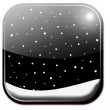 Weather icon - snow — Stock Photo