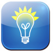 Stock Photo: Light bulb icon