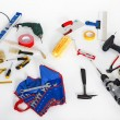 Stock Photo: Tools on a white background