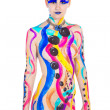Woman in colourful paint on skin — Stock Photo #28527731
