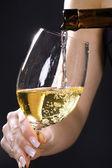 Girl tasting wine — Stock Photo