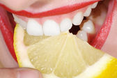 Mouth white tooth — Stock Photo