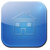 Real estate concept. Small house icon — Stock Photo