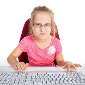 Girl studying hard — Stock Photo