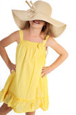 Young girl posing with summer dress — Stock Photo
