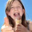 Little girl with ice cream — Stock Photo #28672453
