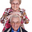 Happy retired middle aged couple — Stock Photo #28675907