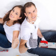 Stock Photo: Young couple having renovate