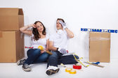 Young couple having renovate — Stock Photo