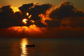 Sunset over the sea — Foto Stock