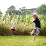 Boy on grass — Stock Photo