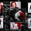Collage with photos of redhead girl — Stock Photo #34672653