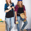 Two working girls — Stock Photo