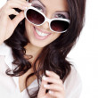 Brunette girl in glasses — Stock Photo