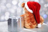 Offended santa bear — Stock Photo