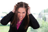 Angry businesswoman — Stock Photo