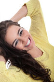 Smiling brunette girl — Stock Photo