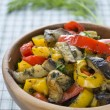 Stewed eggplant and bell pepper — Stock Photo #13855240